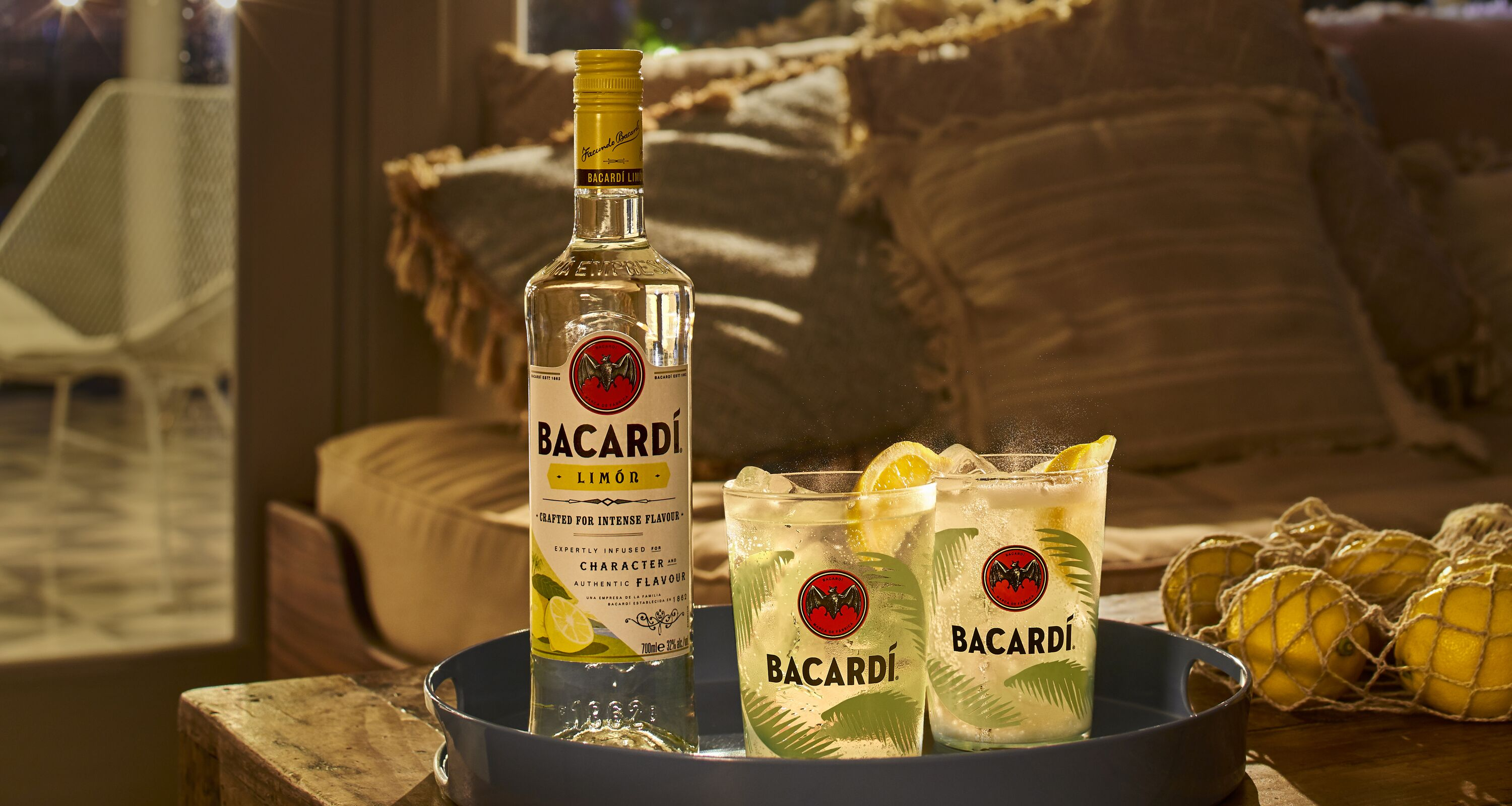 Image result for images of Bacardi Limón and Sprite Cocktail